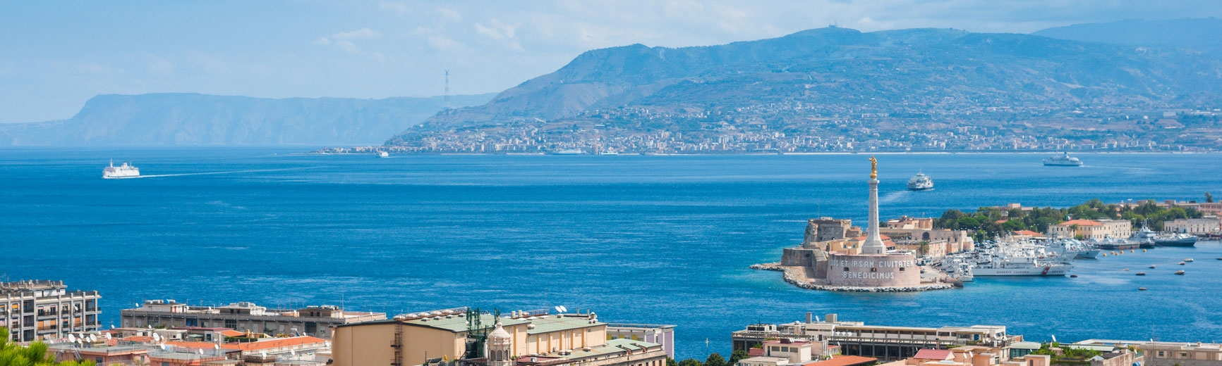 Messina, Sicilia: panoramica dello stretto